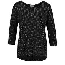 Gerry Weber T-Shirt 3/4 Arm 3/4 Arm Shirt mit schimmernden Punkten 3/4-Arm-Shirts schwarz Damen