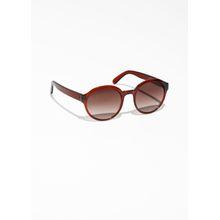Round Frame Sunglasses - Brown