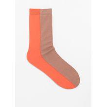 Color Block Socks - Orange