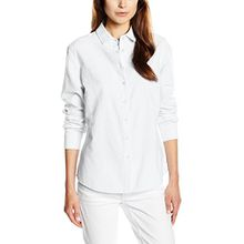 PIECES Damen Regular Fit Bluse Pckatia Shirt Noos, Weiß (Bright White Bright White), 40 (Herstellergröße: L)