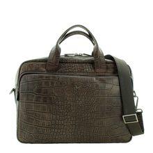 Braun Büffel Businesstasche in Kroko-Optik Handtaschen braun Herren