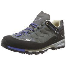 Salewa Mountain Trainer Leder - Bergschuh Damen, Damen Trekking- & Wanderhalbschuhe, Grau (Pewter/Riviera 4054), 37 EU (4.5 Damen UK)