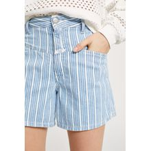 "CLOSED Worker ""85 Striped Denim Shorts light blue"
