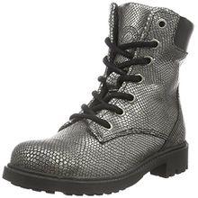 BULLBOXER Mädchen AHB503E6C Biker Boots, Silber (Brnz), 33 EU