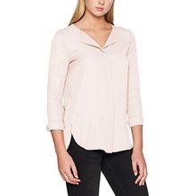 Vila Clothes Damen Bluse Vilucy L/S Shirt-Noos, Rosa (Peach Blush Peach Blush), 40 (Herstellergröße:L)