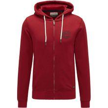Petrol Industries Sweatjacke 'Sweater Hooded' rot / schwarz