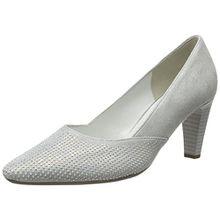 Gabor Shoes Damen Fashion Pumps, Weiß (Ice +Absatz 61), 44 EU