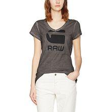 G-STAR RAW Damen T-Shirt Suphe Slim V T Wmn S/S, Schwarz (Raven 976), Large