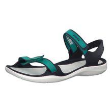 Crocs Sandale 'Swiftwater Webbing' blau / jade