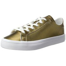 adidas Damen Courtvantage Sneaker, Gold (Copper Metallic/Copper Metallic/Footwear White), 39 1/3 EU