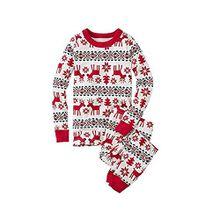 LvRao Familie Schlafanzug Pyjama Weihnachten Baby Kinder Mama Papa Xmas Rentier Hausanzug Nachtwäsche (Xmas #Kinder, 5T)