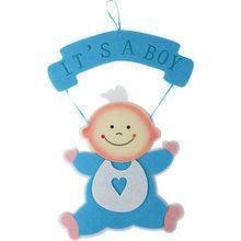 Wandhänger Baby, blau