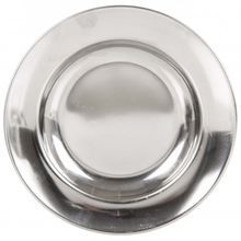Lifeventure - Stainless Steel Camping Plate grau