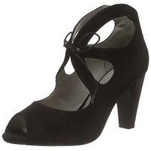 GERRY WEBER Shoes Saskia 01, Damen Knöchelriemchen Pumps, Schwarz (Schwarz 100), 39 EU