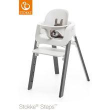 STOKKE® Steps Stuhl mit weißem Sitz und Baby Set