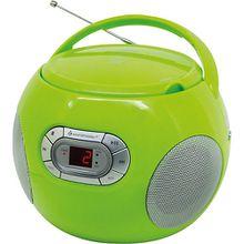 CD Spieler mit Hörbuchfunktion und UKW-Radio grün