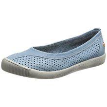 Softinos Damen Iol389Sof Pumps Trainers, Turquoise (Pastel Blue), 40 EU(7 UK)