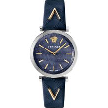 VERSACE Uhr 'V-TWIST, VELS00119' dunkelblau / silber