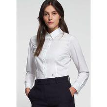 Seidensticker Hemdbluse Langarm Uni Langarmblusen weiß Damen