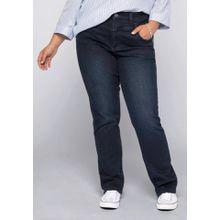 Sheego Gerade Jeans mit High-Waist-Bund