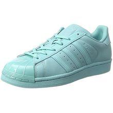 adidas Damen Superstar Glossy to Sneaker, Türkis (Easmin/Easmin/Cblack), 36 EU
