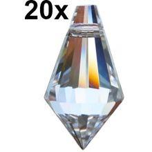 20 Stück premium-kristall© Zapfen spitz 20mm - facettierte Eiszapfen - Feng Shui Kristalle - Drops - Suncatcher