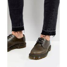 Dr.Martens - 1461 - Schuhe mit 3 Ösen in dunklem Braungrau - Braun