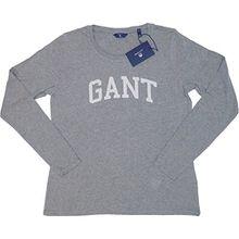 GANT Damen Sweatshirt Logo T-Shirt LS, Grau (Grey Melange 93), 38 (Herstellergröße: M)