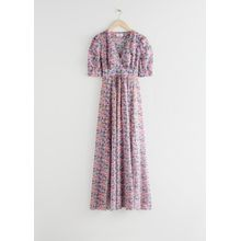 Floral Print Maxi Dress - Pink