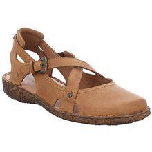 Josef Seibel 7951387913 Rosalie 13 Modische Damen Leder Sandale, Sommerschuh, Ballerina, zehengeschlossen Braun (Camel (240)), EU 39