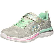 Skechers Mädchen Quick Kicks-Shimmer Dance Sneaker, Grau (Light Grey/Multicolour), 34 EU