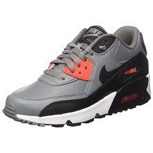 Nike Unisex-Kinder Air Max 90 Ltr GS Sneakers, Grau (Cool Grey/Black/Max Orange/WHI), 37.5 EU