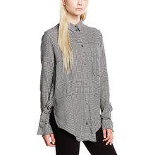 Cheap Monday Damen Hemd Try Shirt Prince Check, Weiß, Small