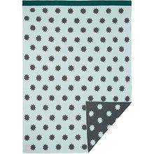 Spiel- und Kuscheldecke Little Chums Stars, gestrickt, 75x100 cm, light mint