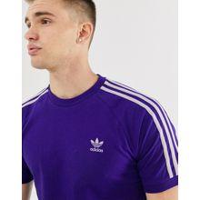 adidas Originals - Violettes T-Shirt mit 3 Streifen - Violett