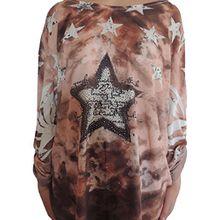 Verschiedene Farben Damen Tuniken Größe 48 50 52 54 56 (Braun-rosa)