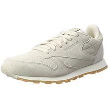 Reebok Unisex-Kinder Classic Leather SG-Grade School Sneaker, Beige (Sandstone/Chalk-Gum), 37 EU