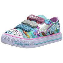 Skechers ShufflesClassy Sassy, Mädchen Sneakers, Blau (AQMT), 35 EU