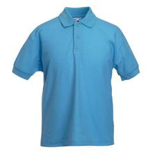 Fruite of the Loom Kinder Polo-Shirt, vers. Farben 128,Pastellblau