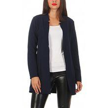 Damen lang Blazer mit Taschen ( 573 ), Farbe:Dunkelblau, Blazer 1:40 / L