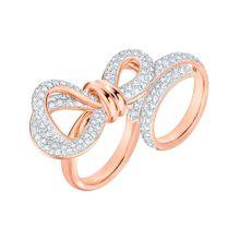 Swarovski Ring 'Lifelong Bow' bronze / weiß