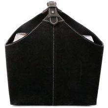 Orskov Magazin Box aus Wildleder, schwarz