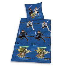 Herding 448560050 Bettwäsche Clone Wars, Kopfkissenbezug: 80 x 80 cm + Bettbezug: 135 x 200 cm, 100% Baumwolle, Renforce