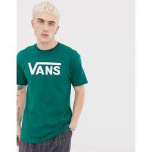 Vans - Grünes T-Shirt mit großem Logo, VN000GGGWUS1 - Grün