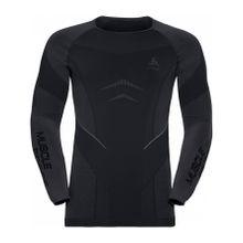 Odlo - Performance Muscle Force Warm Herren Laufshirt (schwarz/grau) - S