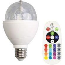 LED Glühbirne, inkl. Fernbedienung, routierend