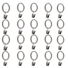 Metall Vorhang Ringe mit Clips 20Stück