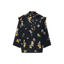 PIECES Bluse BELLE 3/4-Arm-Blusen schwarz Damen