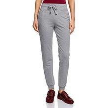 oodji Ultra Damen Jersey-Hose im Sport-Stil, Grau, DE 32/EU 34/XXS