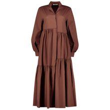 Solides Midi-Shirt-Kleid